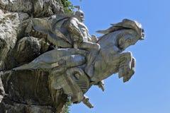 Święty George na hourse wygranie zło Zdjęcie Royalty Free