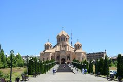 Święty Gregory iluminator katedra, Yerevan, Armenia Zdjęcia Royalty Free