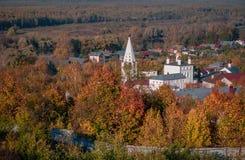Święty Gromniczny klasztor Gorokhovets Vladimir region Przy końcówką Wrzesień 2015 Fotografia Royalty Free