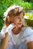 święty idzie pierwszy communion dziewczyna Fotografia Royalty Free