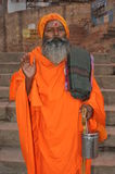 święty ind mężczyzna sadhu Varanasi fotografia stock