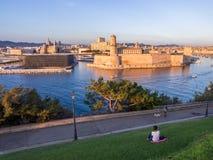 Święty Jean Grodowy, Katedralny De Los angeles i ja Specjalizujący się i Vieux port Obrazy Royalty Free