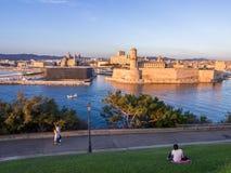 Święty Jean Grodowy, Katedralny De Los angeles i ja Specjalizujący się i Vieux port Fotografia Royalty Free
