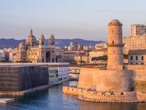 Święty Jean Grodowy, Katedralny De Los angeles i Specjalizujący się i Vieux port Zdjęcia Royalty Free