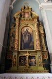 Święty John Nepomuk ołtarz w bazylice Święty serce Jezus w Zagreb Obrazy Stock