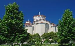 Święty John Rosyjski kościół, Prokopi, Grecja Zdjęcia Royalty Free