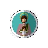 Święty Joseph chrześcijaństwo ilustracja wektor