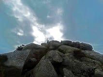 Święty kamienia finesterra zdjęcia stock