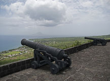 Święty Kitts, Brimstone wzgórza forteca Zdjęcia Stock