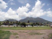 Święty Kitts, czerni skały Zdjęcie Royalty Free