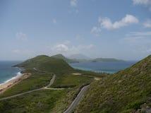 Święty Kitts, widok od tymotki wzgórza Zdjęcia Stock