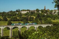 Święty Leonard De Noblat, wioska i pociąg, Francja Zdjęcie Royalty Free