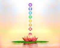 Święty Lotus I Chakras ilustracja wektor