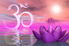 Święty Lotus Na wodzie Obraz Royalty Free