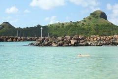Święty Lucia, wyspa karaibska Obrazy Royalty Free