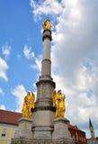Święty Maryjny zabytek wewnątrz stać na czele katedrę Zagreb Obraz Stock