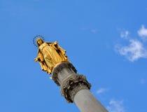 Święty Maryjny zabytek wewnątrz stać na czele katedrę Zagreb Zdjęcie Royalty Free