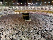 Święty meczet w mekce przy tawaf zdjęcia stock
