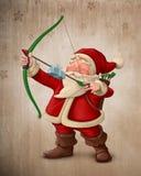 Święty Mikołaj łuczniczka ilustracja wektor