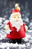 Święty Mikołaj świeczka Zdjęcie Royalty Free