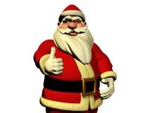 Święty Mikołaj życzy szczęście royalty ilustracja