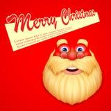Święty Mikołaj życzy Wesoło boże narodzenia royalty ilustracja