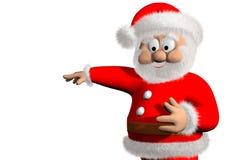 Święty Mikołaj 3d ilustracji
