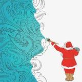 Święty Mikołaj artystą jest Zdjęcie Royalty Free