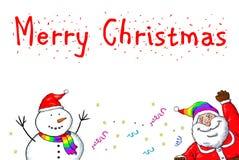 Święty Mikołaj bałwanu Wesoło bożych narodzeń Homoseksualna duma Zdjęcie Royalty Free