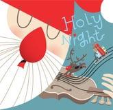 Święty Mikołaj bawić się skrzypce ilustracji