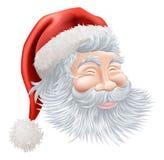 Święty Mikołaj bożenarodzeniowa Twarz Obrazy Stock