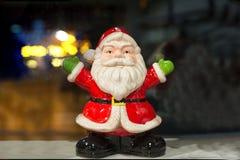 Święty Mikołaj ceramiczna postać Zdjęcie Stock