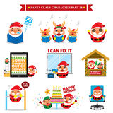 Święty Mikołaj charakter - sety Obraz Stock