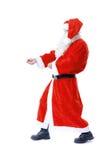 Święty Mikołaj ciągnienie Zdjęcie Stock