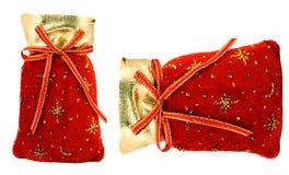 Święty Mikołaj czerwona torba obraz royalty free