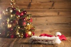 Święty Mikołaj dnia pojęcie brązowy linii abstrakcyjne tła zdjęcie Fotografia Stock