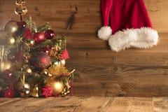 Święty Mikołaj dnia pojęcie brązowy linii abstrakcyjne tła zdjęcie Obrazy Stock