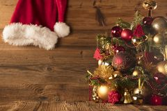 Święty Mikołaj dnia pojęcie brązowy linii abstrakcyjne tła zdjęcie Zdjęcie Royalty Free