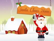 Święty Mikołaj dom Zdjęcie Royalty Free