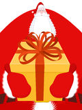 Święty Mikołaj Duży wielki Bożenarodzeniowy dziad Ogromny Santa dowcip royalty ilustracja