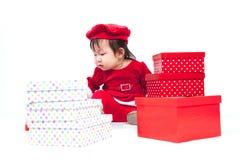 Święty Mikołaj dziewczynka Obraz Stock