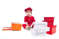 Święty Mikołaj dziewczynka Zdjęcie Stock