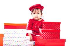 Święty Mikołaj dziewczynka Zdjęcie Royalty Free