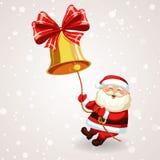 Święty Mikołaj dzwoni dzwon ilustracji