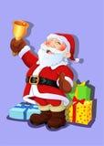 Święty Mikołaj dzwonienia dzwon Zdjęcia Stock