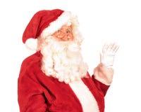 Święty Mikołaj falowania ręka Zdjęcia Royalty Free