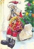 Święty Mikołaj - glassblower royalty ilustracja