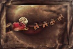Święty Mikołaj Greetingcard Zdjęcia Stock