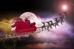 Święty Mikołaj gwiazdy gps Zdjęcia Royalty Free