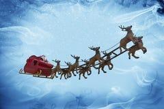 Święty Mikołaj i śnieżna fantazja! Zdjęcia Royalty Free